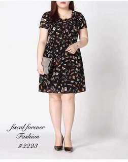 Plus Size Full Print Dress