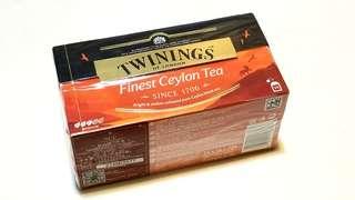 川寧Twinings 錫蘭紅茶Ceylon Tea 盒裝茶包(25包裝)