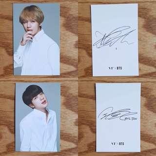 BTS x VT Official Photocards V or Jin