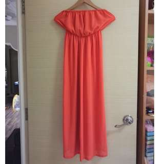 woman jumpsuit, S$12 includes normal mail (red)