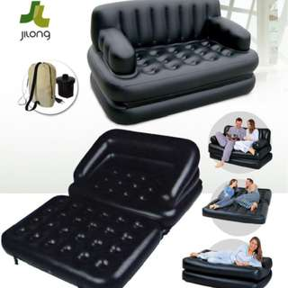 JILONG 5IN1 Inflatable Sofa Bed Mattress WITH Electric Pump