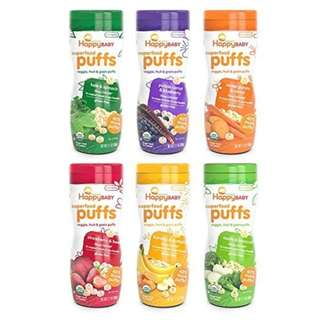 Snack Bayi HAPPY BABY SUPERFOOD PUFFS 60G