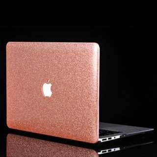 (216)Glittery PU Leather Coated Hard Case for MacBook Air 13.3-inch A1369 A1466