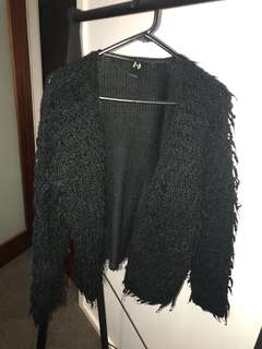 FLUFFY THICK KNIT JACKET