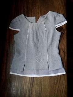 Mesh Gray Top