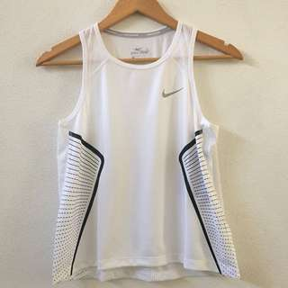 NEW! Nike Dri Fit Miler White Top
