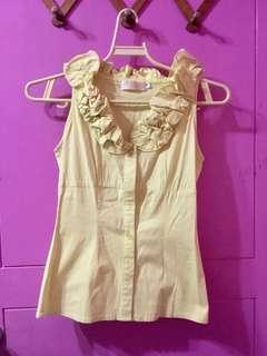 Krizia Yellow blouse