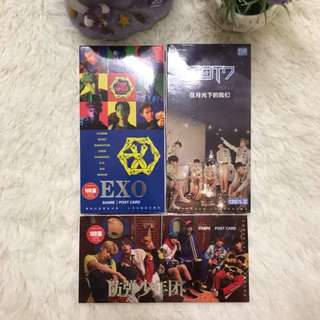 [READYSTOCK]BTS/EXO/GOT7 Postcard