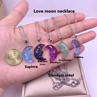 love moon necklac