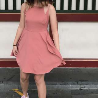 Urban Outfitters Pink flare dress