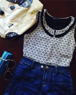 ✨REPRICED✨Sleeveless collared blouse