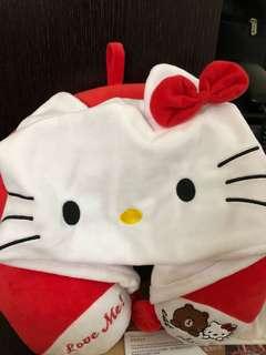 Hello kitty 旅行頸枕