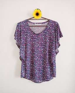 Purple Floral Top
