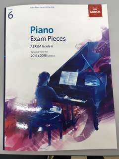 ABRSM Piano exam pieces Grade 6 without CD