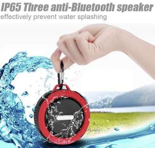 Portable speaker with water resistant