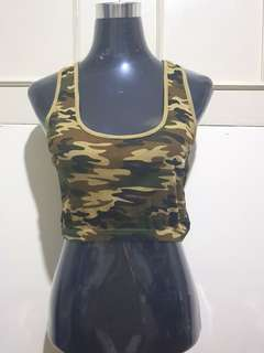 Pre-loved Midriff Top (Camouflage)