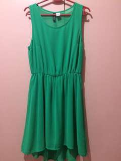 H&M Green Sleeveless Dress