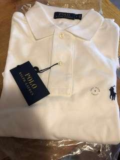 Polo Ralph Lauren Men's Polo Tee T shirt  男裝反領白色T, 父親節禮物