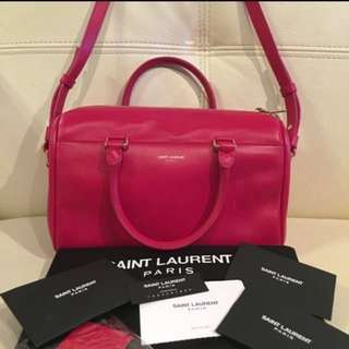 YSL Classic Baby Duffle Shocking Pink Leather Bag 桃紅色真皮手袋