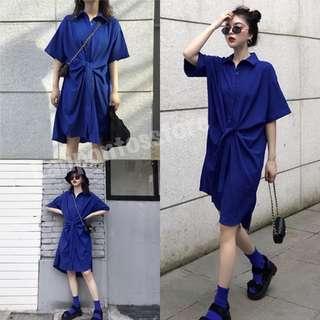 夏季2018新款韓版復古少女心溫柔仙女裙超仙收腰顯瘦襯衫連衣裙潮
