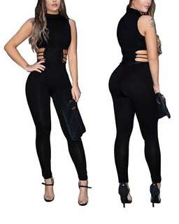 Sexy Fashion Hollow Out Black Jumpsuits