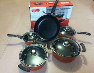 #015 9pcs non stick cookware
