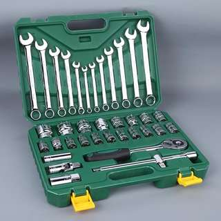 "TSTOP 37pcs 1/2"" Socket & Combination Wrench Set"