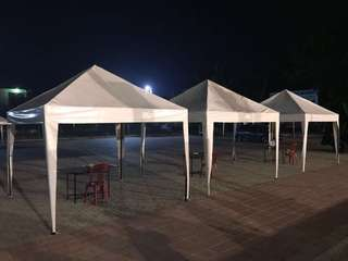 Sewa Tenda Piramid Putih 3x3m