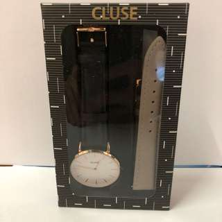 CLUSE rose gold watch gift box