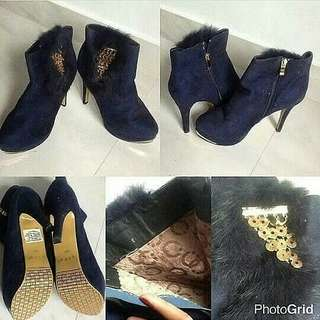 Code : Navy Boots High Heels Import