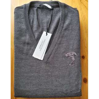 Versace Collection Men's Sweater / Jumper - M - Grey