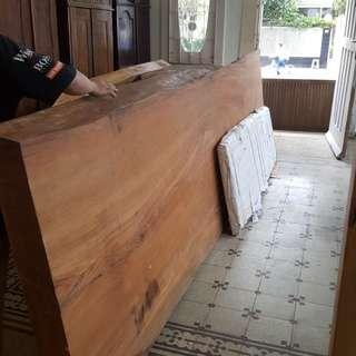 Papan kayu solid 400x109x12