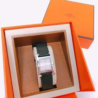 Hermes H hour watch 黑x銀