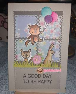 Handmade card A good day to be happy