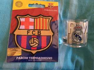 Real Madrid Patch and Shot Glass