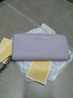 Michael Kors Wallet (淺粉紫)