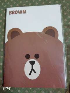Line Friends~Brown notebook