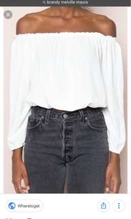 Brandy Melville White Maura Off Shoulder