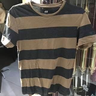 H&M's Brown Stripe Shirt