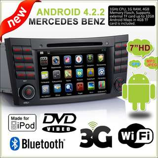 Benz W211 Android DVD Player(CLEAR STOCK/FREE CAMERA)