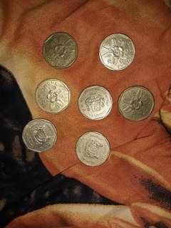 Koin singapore berbagai tahun