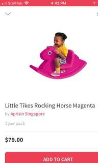 Brand new in box rocking horse