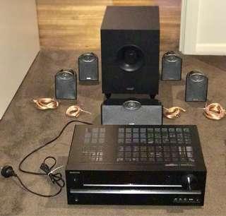 """Samsung 60"""" TV + Onkyo Amplifier + Tannoy 5.1 Ch Surround Sound"""