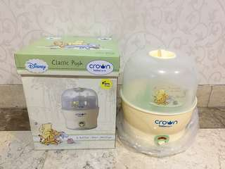 Preloved crown baby care pooh classic 6 bottles steam sterilizer steril botol bayi