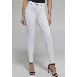 Bardot Khloe Super High Jeans - Size 11 - White