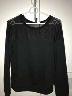 HnM Black SheerTop Sweater