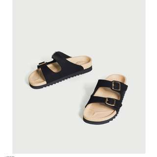 [ METIS ] 金屬飾扣雙帶拖鞋