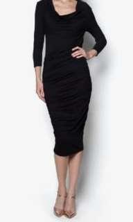 Goddiva Cowl Front Midi Dress