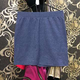 Glitter Denim Skirt / Rok Span / Pencil Mini Skirt