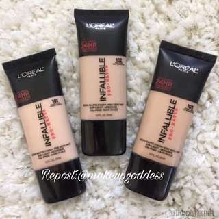 🌟INSTOCK🌟Loreal Infallible Pro Matte Foundation